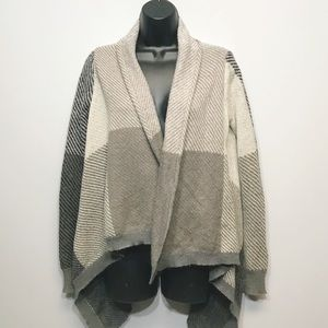 Cynthia Rowley | Plaid Blanket Open Cardigan